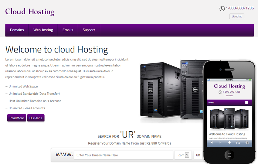 Templates, Free Reseller Hosting Company Templates - Anix Host